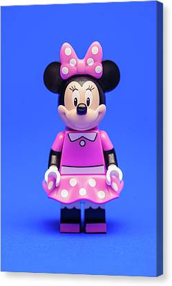 Minifig Canvas Print - Minnie Mouse by Samuel Whitton
