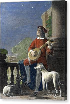 Minstrel, 19th Century Canvas Print by Granger