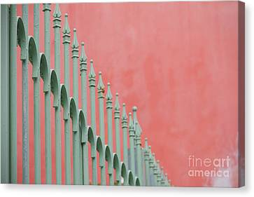 Mint And Pink Canvas Print by Bethany Helzer