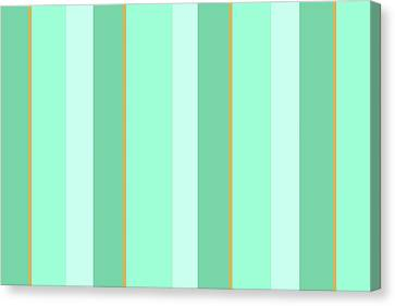 Canvas Print featuring the mixed media Mint Green Stripe Pattern by Christina Rollo
