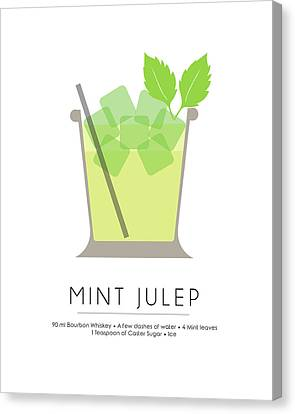 Mint Julep Classic Cocktail - Minimalist Print Canvas Print