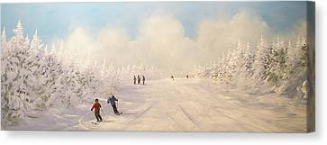 Canvas Print featuring the painting Minus 9 by Ken Ahlering