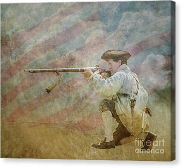 Minuteman Call To Arms Canvas Print