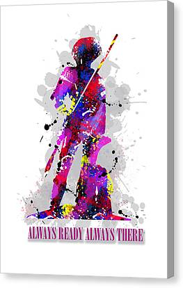 Minuteman Canvas Print by Peter Stevenson