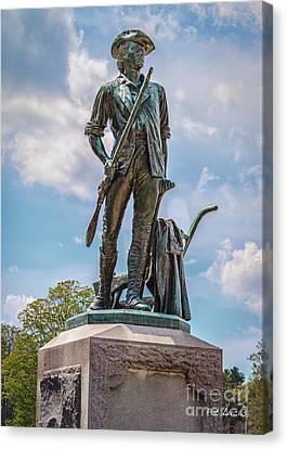 Concord Massachusetts Canvas Print - Minuteman Statue by Pat Lucas