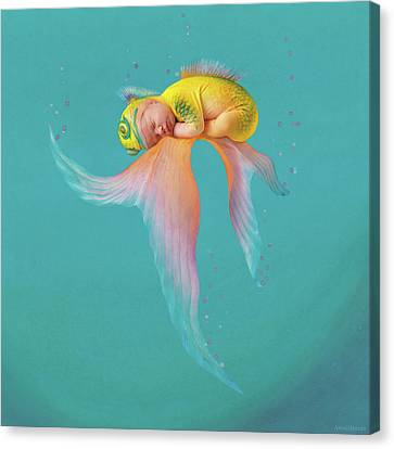 Mira As A Tropical Fish Canvas Print