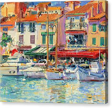 Port Town Canvas Print - Mirabeau by Peter Graham
