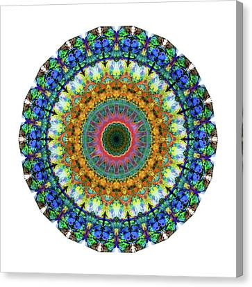 Energy Mandalas Canvas Print - Miracle Mandala Art By Sharon Cummings by Sharon Cummings