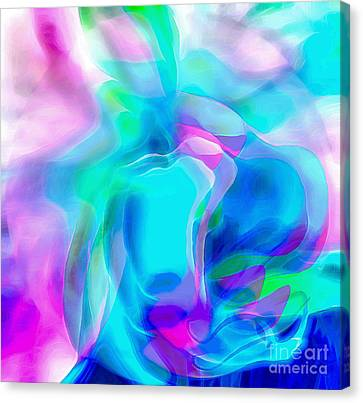 Floral Digital Art Canvas Print - Miracles Will Happen by Krissy Katsimbras