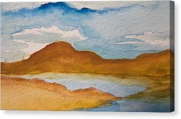 Mirage In The Desert Canvas Print