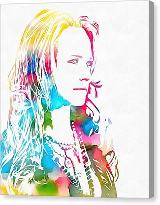Miranda Lambert Watercolor Canvas Print by Dan Sproul