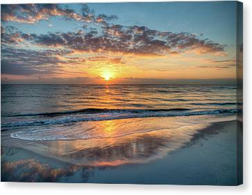 Canvas Print featuring the photograph Mirror At Sunrise by Debra and Dave Vanderlaan