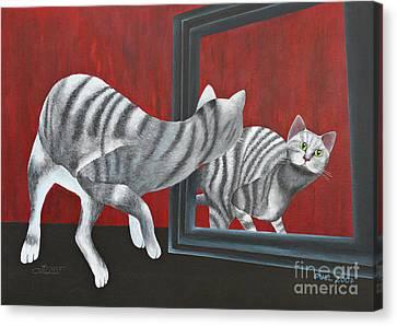 Mirror Image Canvas Print by Jutta Maria Pusl