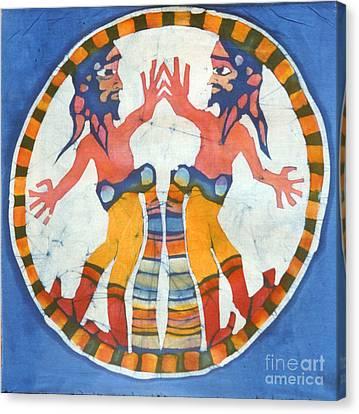 Mirror Image Pirates Canvas Print by Carol  Law Conklin