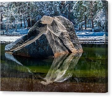 Canvas Print - Mirror Lake Boulder by Bill Gallagher