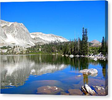 Mirror Lake Wyoming Canvas Print by Kristina Chapman