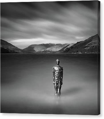 Mirror Man Canvas Print by Dave Bowman