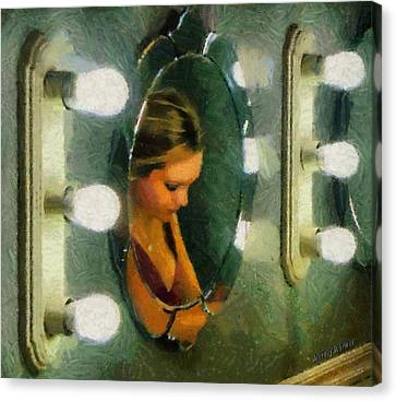 Dressing Room Canvas Print - Mirror Mirror On The Wall by Jeffrey Kolker