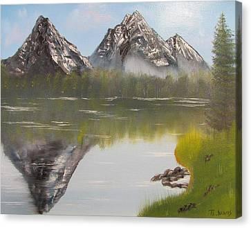 Mirror Mountain Canvas Print by Thomas Janos