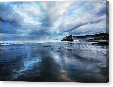 Canvas Print featuring the photograph Mirror Of Light by Debra and Dave Vanderlaan