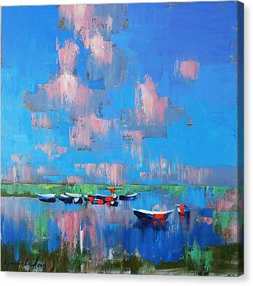 Canvas Print featuring the painting Mirror Of Water by Anastasija Kraineva