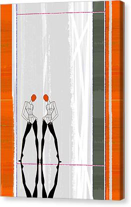 Mirror Reflections Canvas Print by Naxart Studio