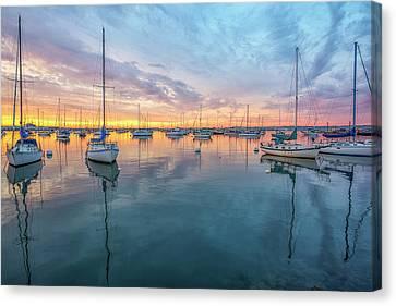 Mirror Sunset Canvas Print