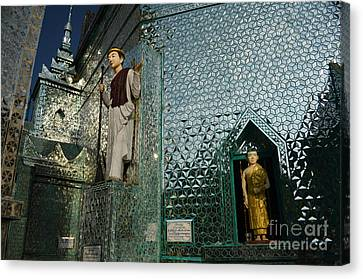 Mirror Temple In Burma Courtyard View Canvas Print