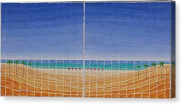 Mirror Twin Beaches Canvas Print