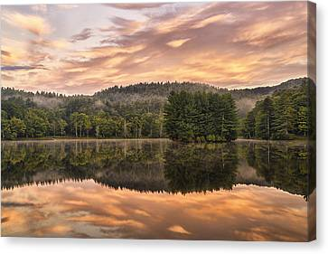 Bass Lake Sunrise - Moses Cone Blue Ridge Parkway Canvas Print