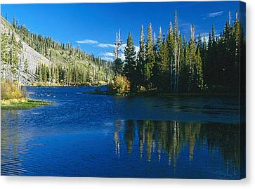 Canvas Print featuring the photograph Mirrored Lake by Gary Brandes