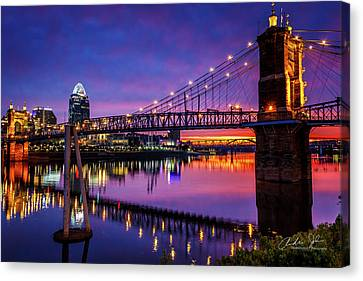 Mirrored Morning Color Canvas Print