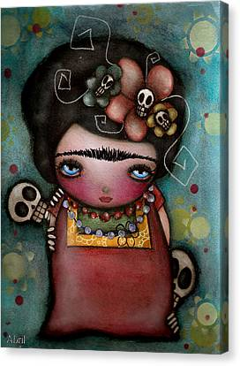Mis Amigos Canvas Print by  Abril Andrade Griffith