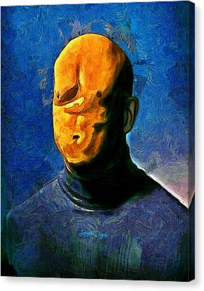 Misfaced - Da Canvas Print by Leonardo Digenio