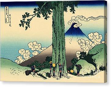 Mishima Pass In Kai Province Canvas Print by Hokusai