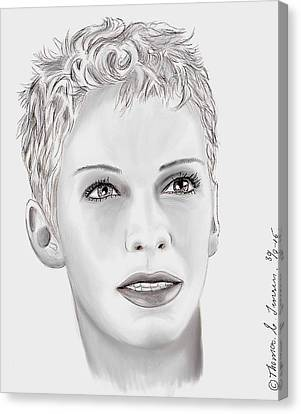 Miss Annie Lennox  Canvas Print