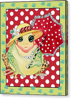Miss Belle Frog Canvas Print by Kay Robinson