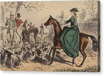 Miss De Glancey Captivates The Earl Canvas Print