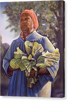 Miss Emma's Collard Greens Canvas Print by Curtis James