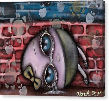 Miss Humpty Dumpty Canvas Print by  Abril Andrade Griffith