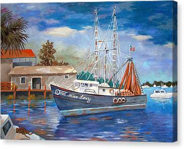 Canvas Print featuring the painting Miss Lexy by Tony Caviston