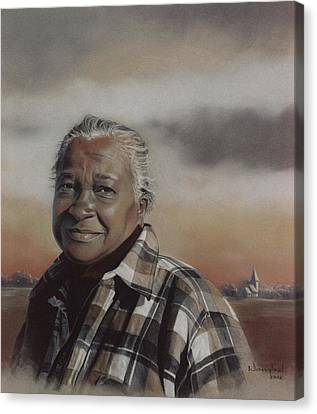Miss Lottie Canvas Print by Nanybel Salazar
