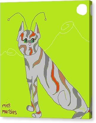 Miss Marbles My Favorite Martian Canvas Print by Anita Dale Livaditis
