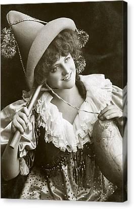 Miss Marie Studholme As Lady Madcap 1905 Canvas Print by Sarah Vernon