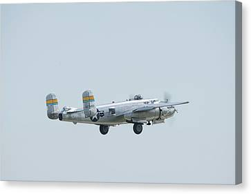 Miss Mitchell Flyby Canvas Print by Randy Scherkenbach