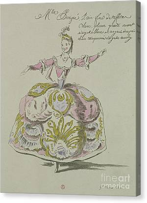 Miss Puvigne As Air, In Zoroastre, A Libretto By Cahusac Canvas Print