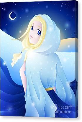 Miss Winter-night Canvas Print