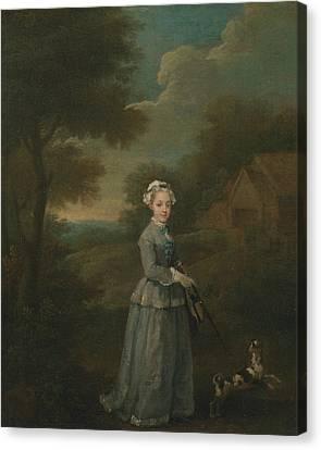 Hogarth Canvas Print - Miss Wood by William Hogarth
