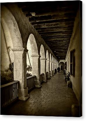 Mission Arches Canvas Print by Perry Webster