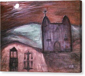 Mission At Night Canvas Print